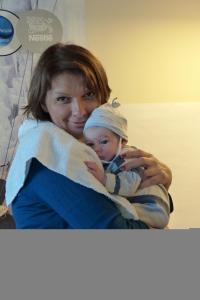 Kispál Márta a kismama program legfiatalabb résztvevőjével